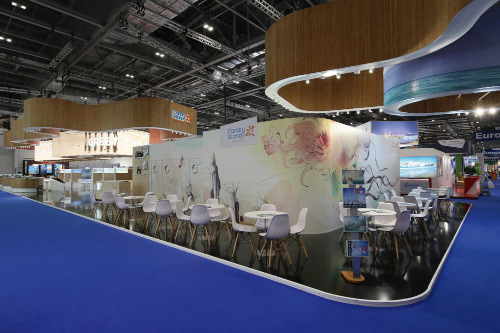 Awarded exhibit design at WTM London