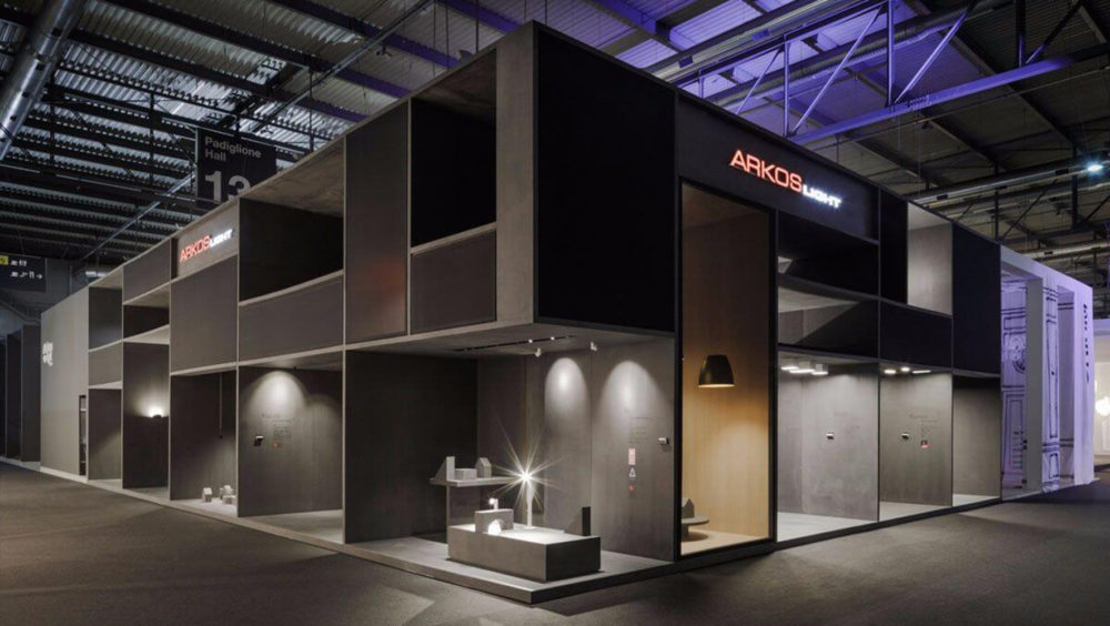 Arkoslight en el Salón del Mueble de Milán, Euroluce